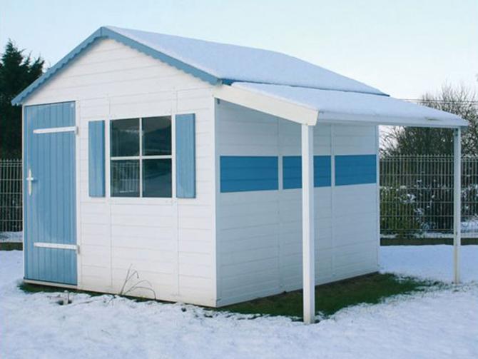abris de jardin en pvc environnement bois. Black Bedroom Furniture Sets. Home Design Ideas